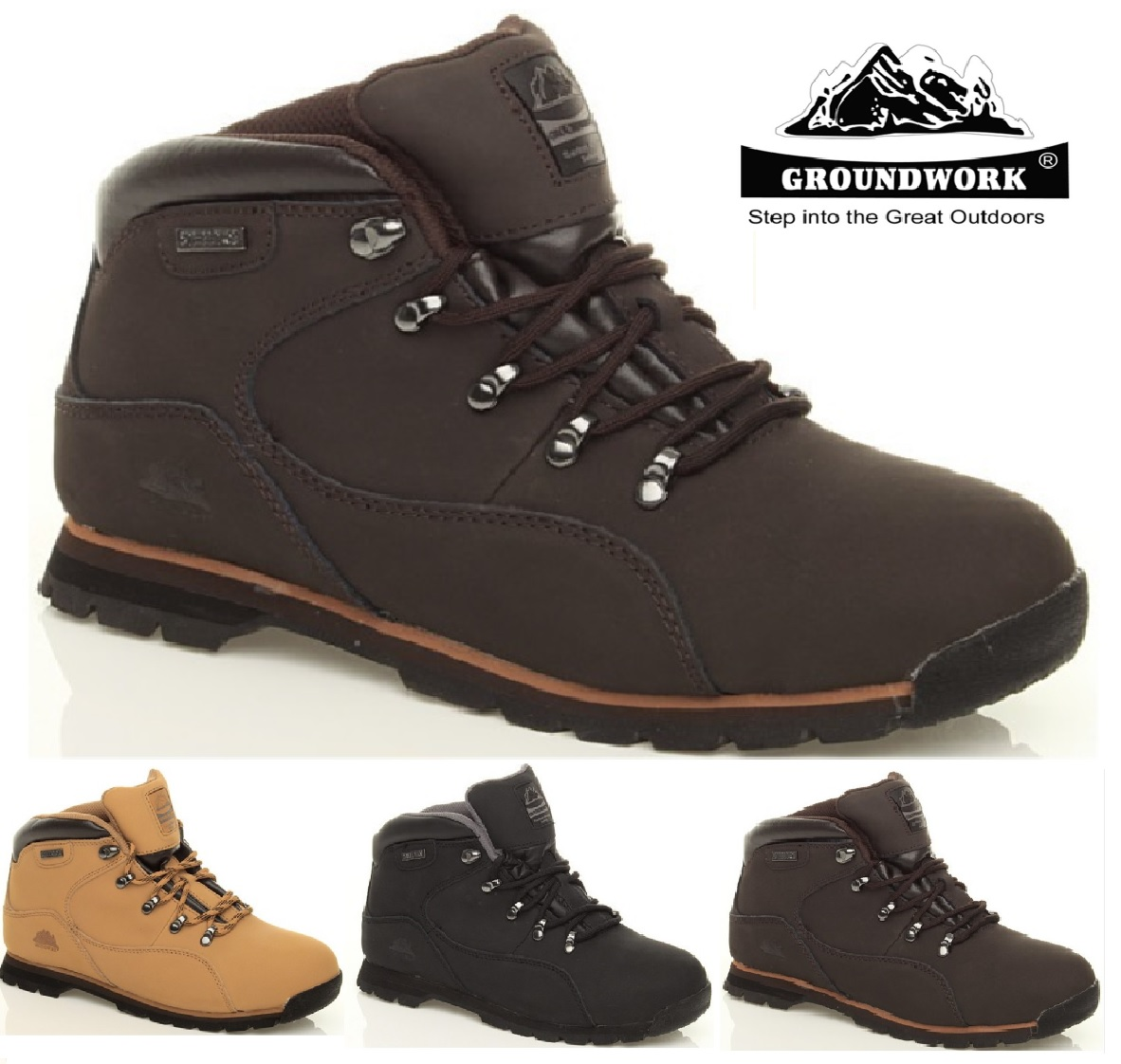 NEW MENS BOOTS SAFETY LEATHER WORK STEEL TOE CAP ANKLE BOOT TRAINERS SIZE 7-11