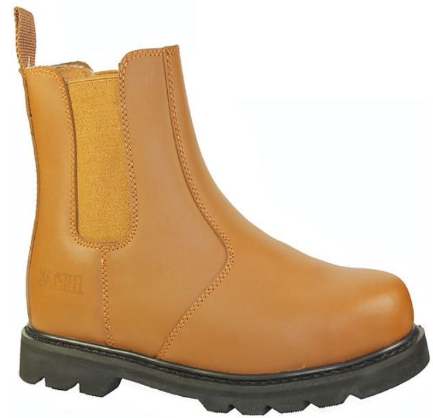 herren stiefel arbeitsschuhe slip on sicherheit stahlkappe chelsea boots kn chel ebay. Black Bedroom Furniture Sets. Home Design Ideas
