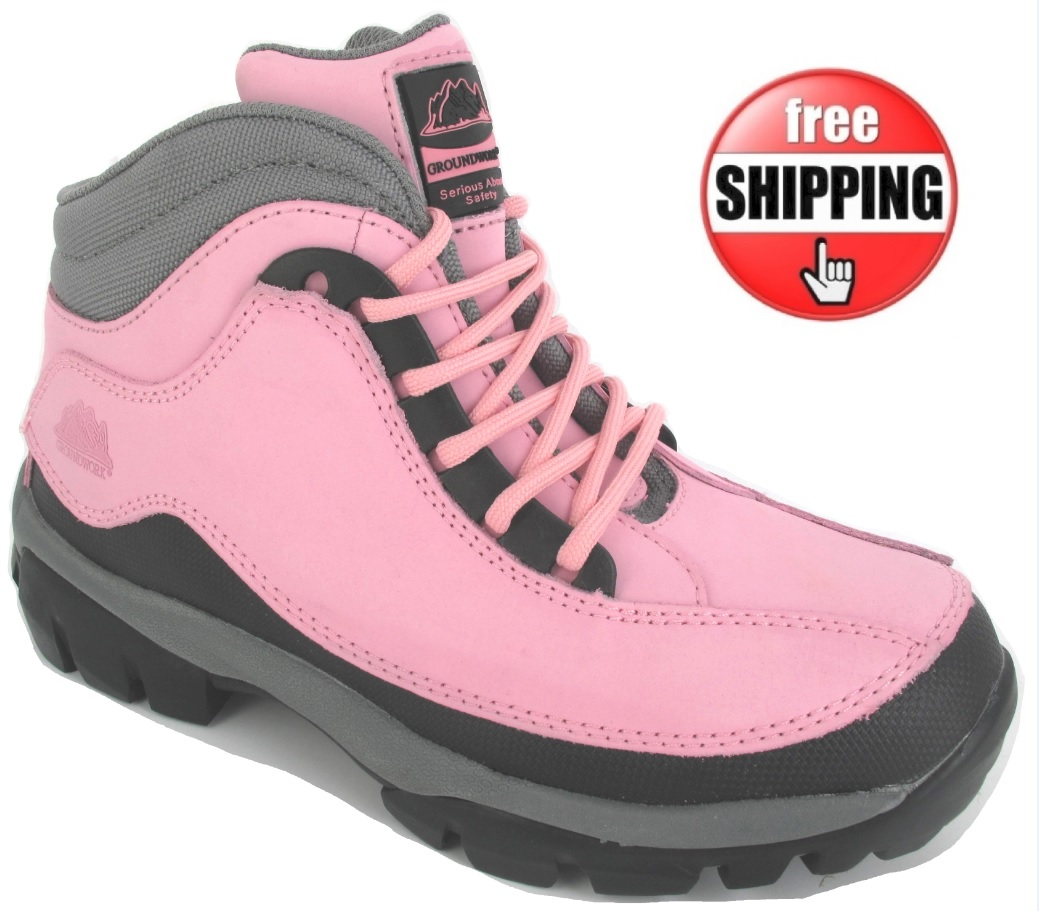 new safety boots leather hiking steel toe cap