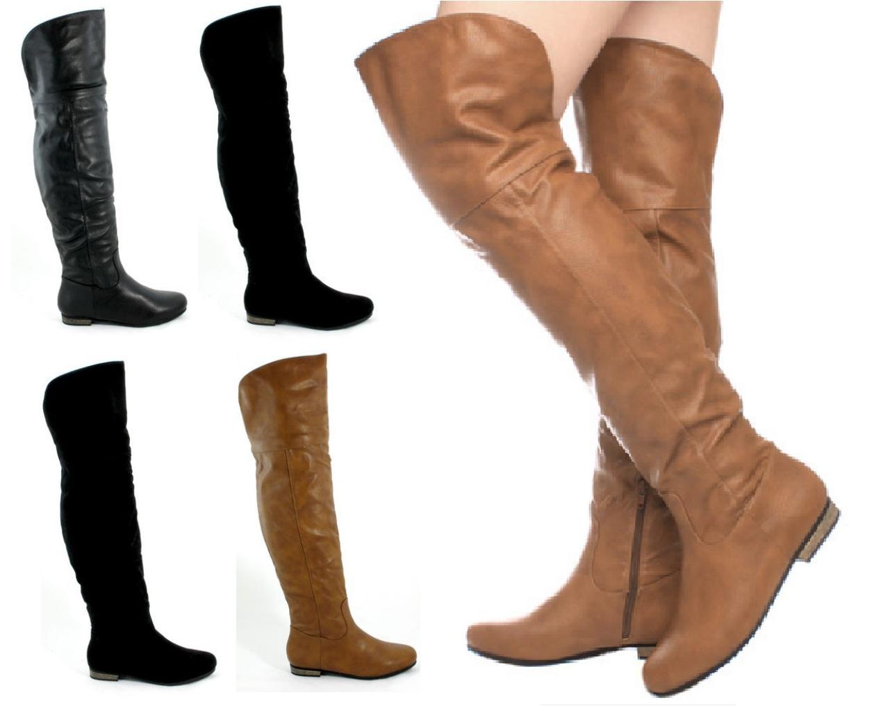 bottes hautes bon march et plus la taille de la cuisse