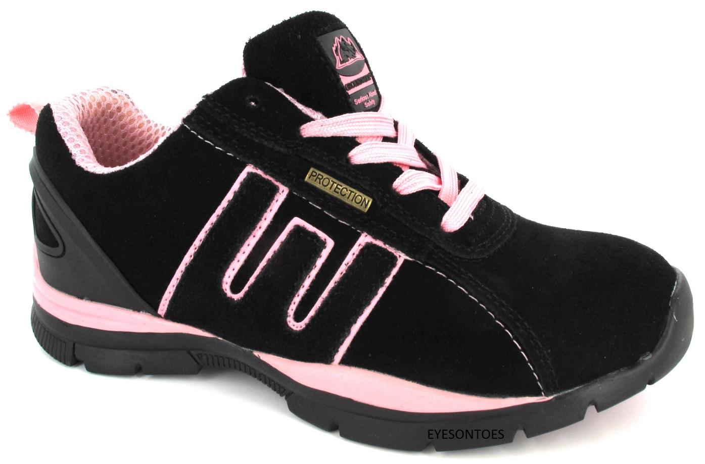 Mujer zapatillas de seguridad puntera acero senderismo - Zapatillas de trabajo ...
