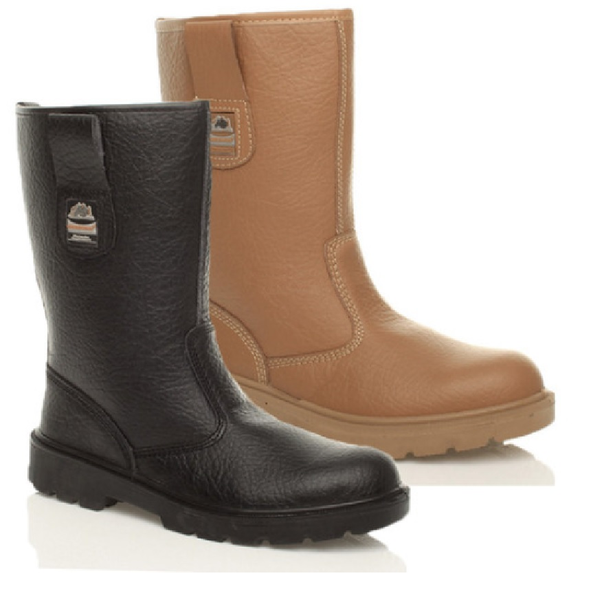 mens work leather lightweight safety rigger boots