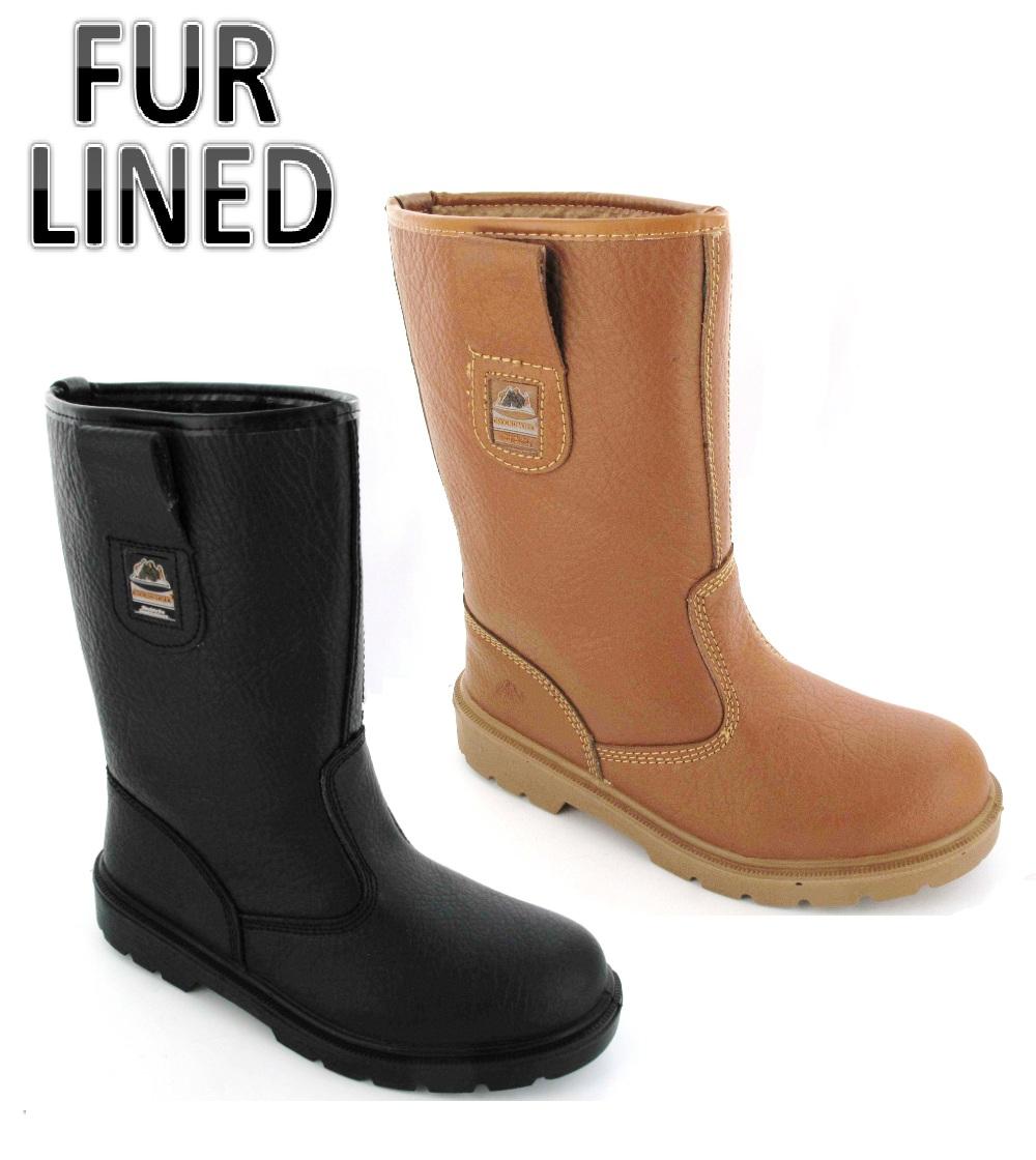 Mens Work Leather lightweight Safety