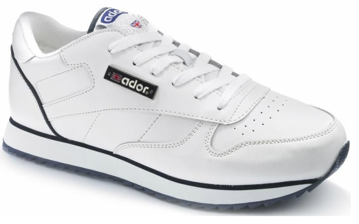MENS BOYS ADOR WHITE BLACK VELCRO RUNNING TRAINERS SPORTS
