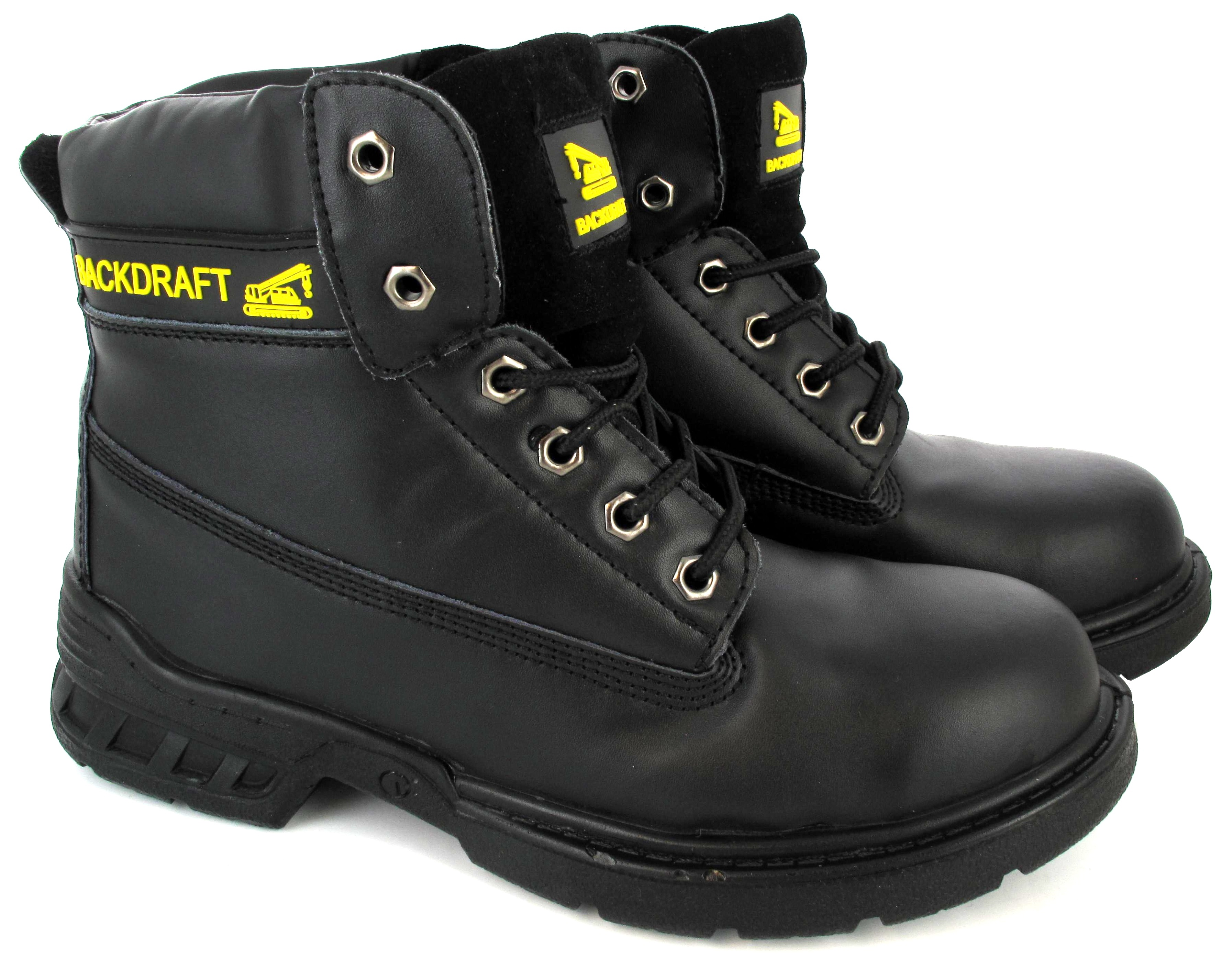 steel toe cap mens lace up work safety shoes steel midsole
