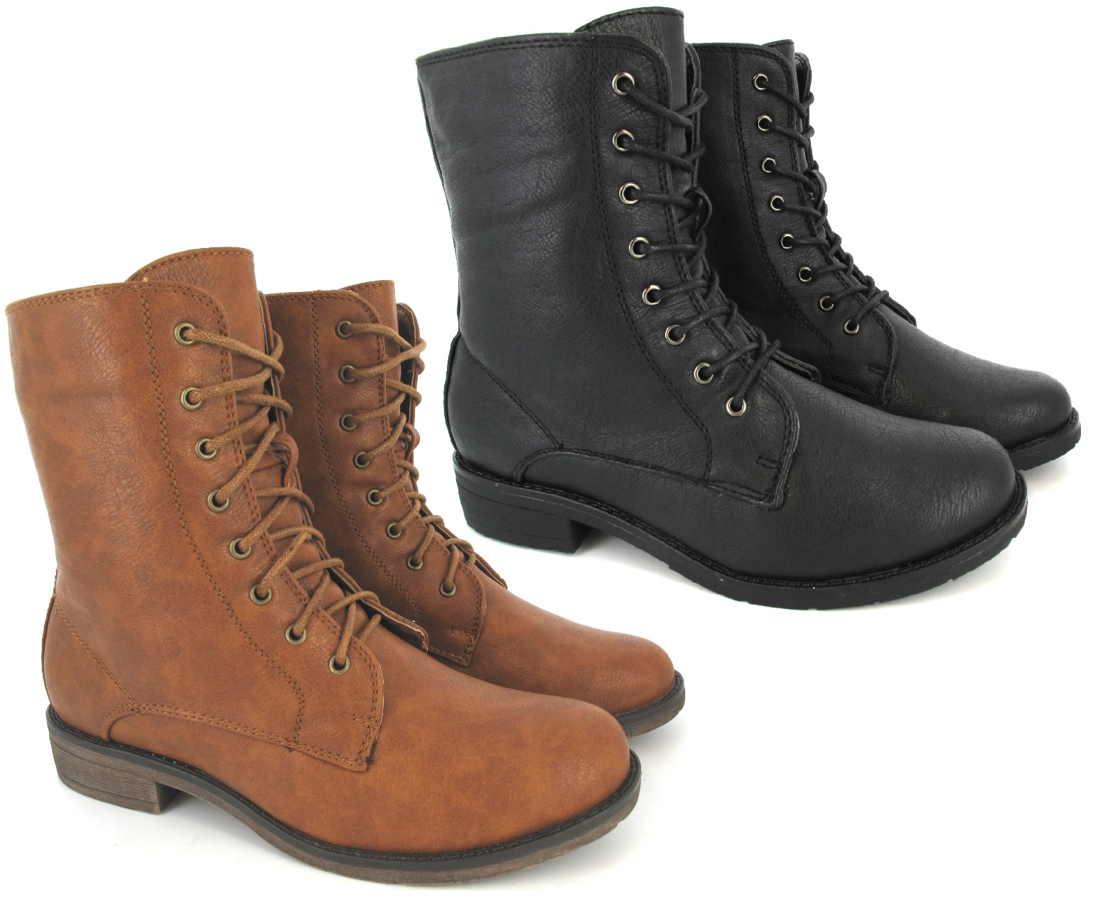 Brown combat boots for women the image for Combat portent 30 20