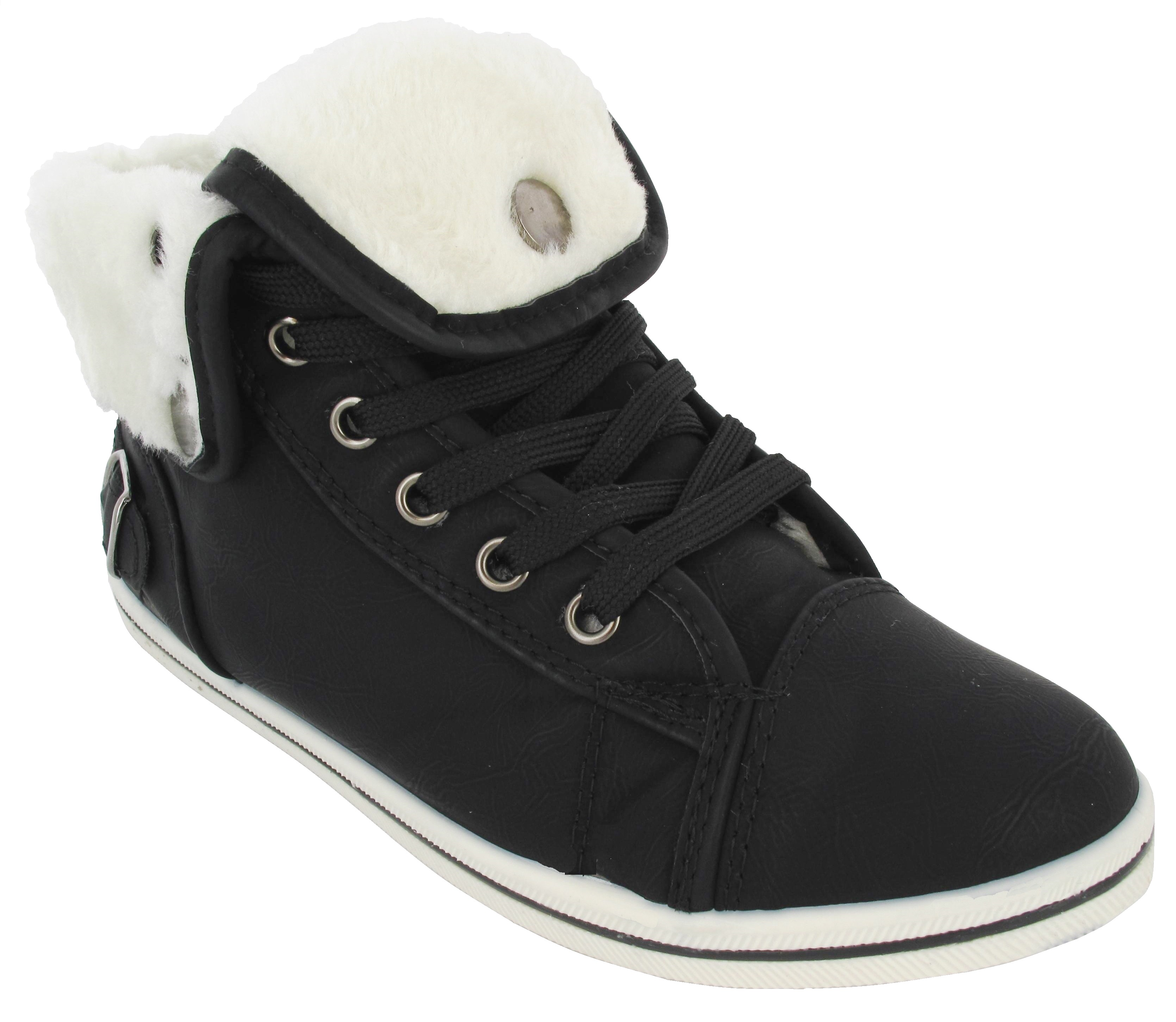 LADIES GIRLS HI HIGH TOP TRAINERS FUR LINED WINTER PUMP FLAT SHOES ANKLE BOOT NE