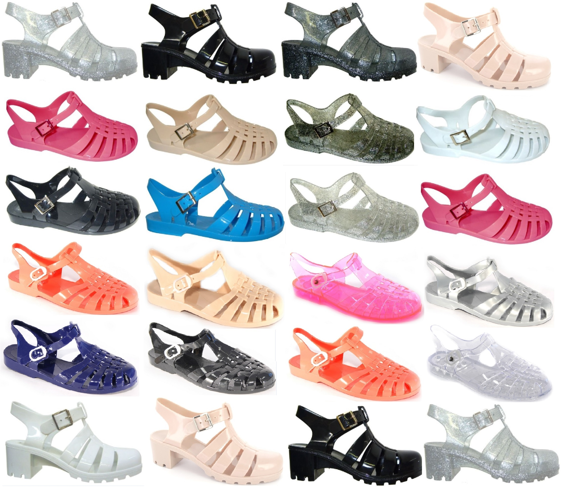 LADIES WOMENS JELLY SANDAL FLAT SUMMER BEACH RETRO GIRLS FLIP FLOPS SANDALS SIZE