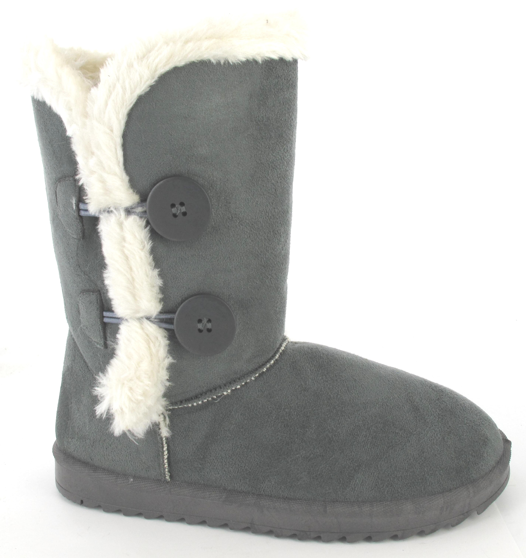 womans flat ankle faux fur comfy snugg warm winter