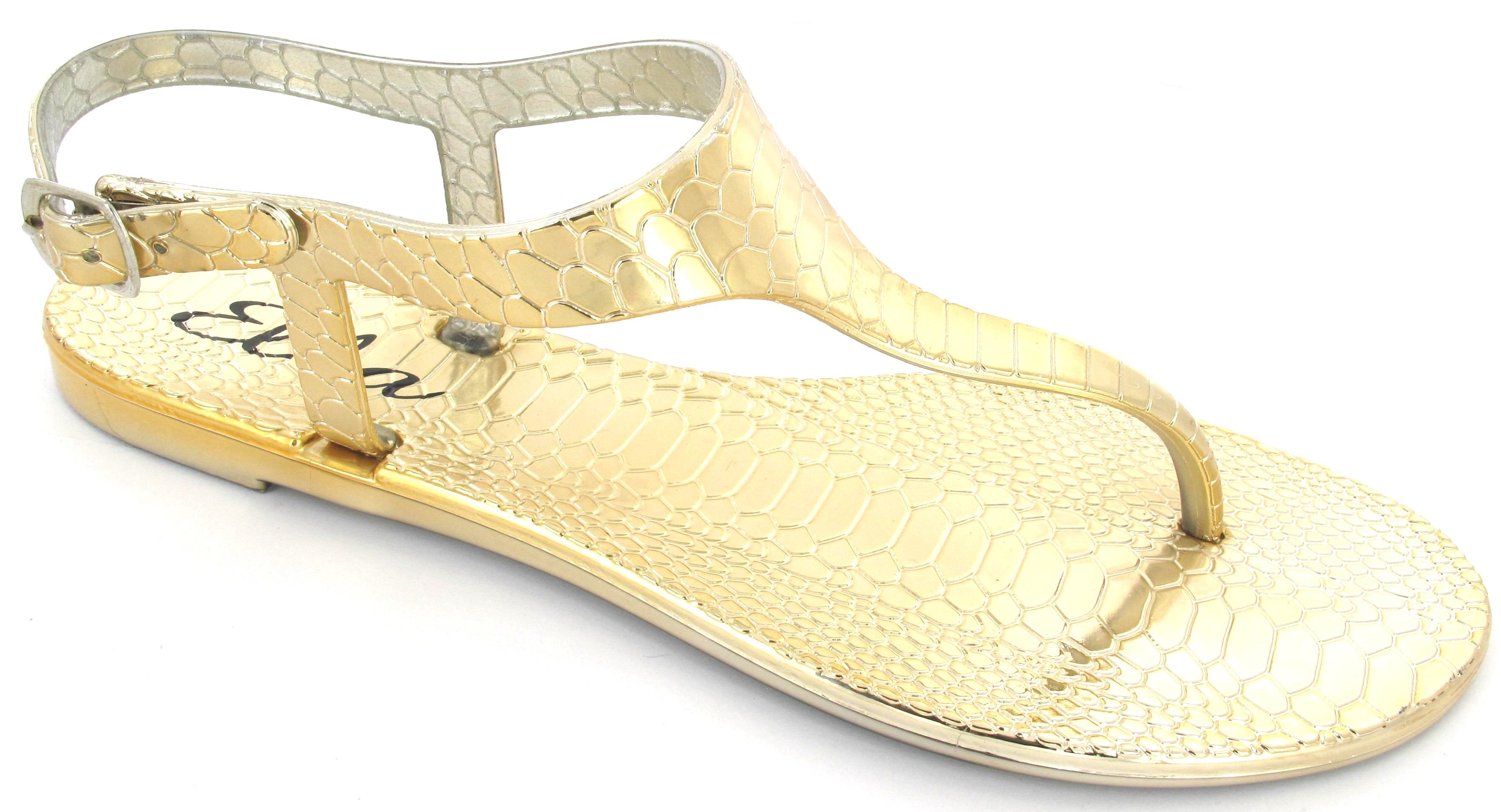 flache damen jelly sandalen schnalle zehensteg strand sommer sandalen schuhe ebay. Black Bedroom Furniture Sets. Home Design Ideas