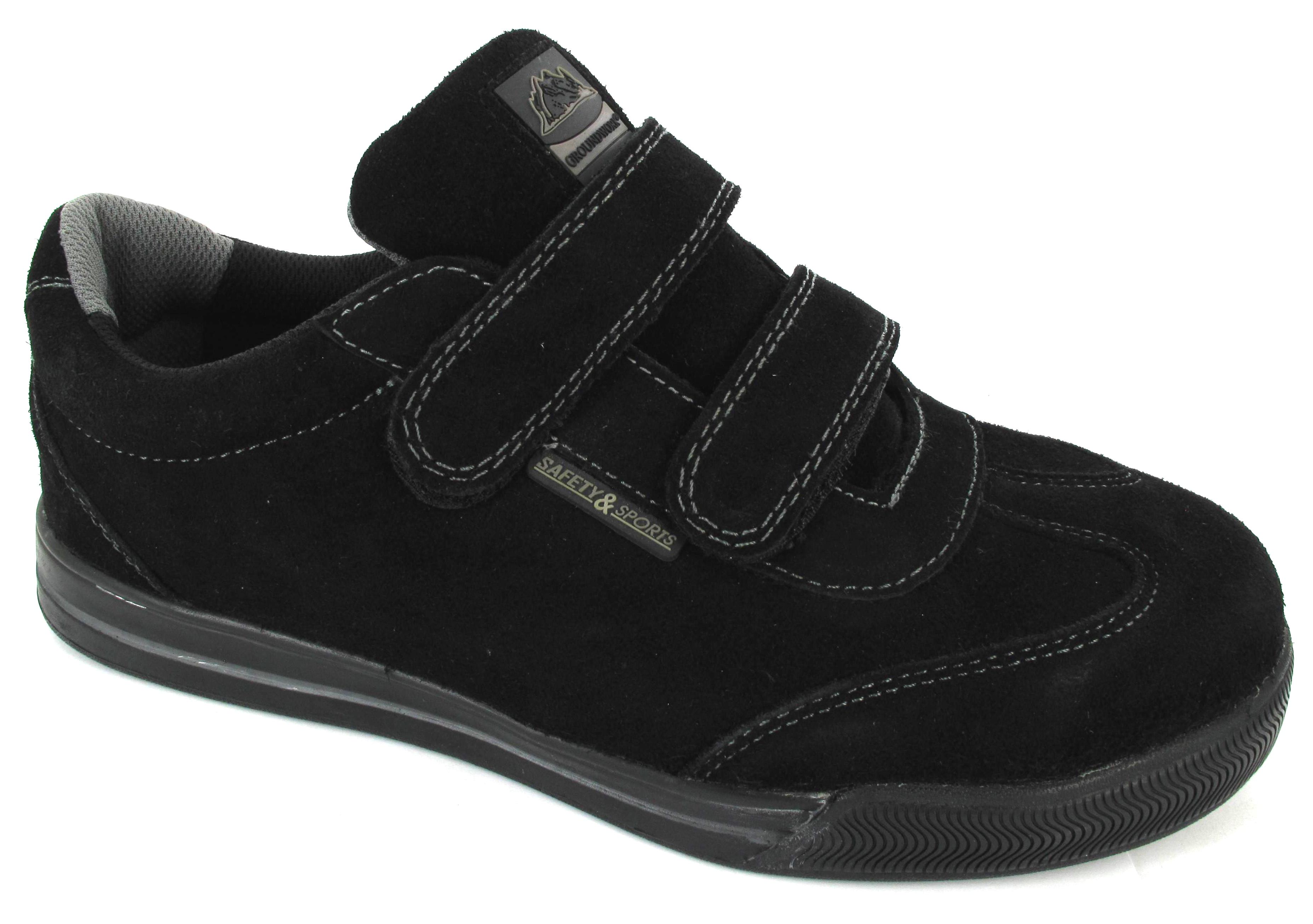 mens steel toe cap safety velcro work leather lightweight. Black Bedroom Furniture Sets. Home Design Ideas