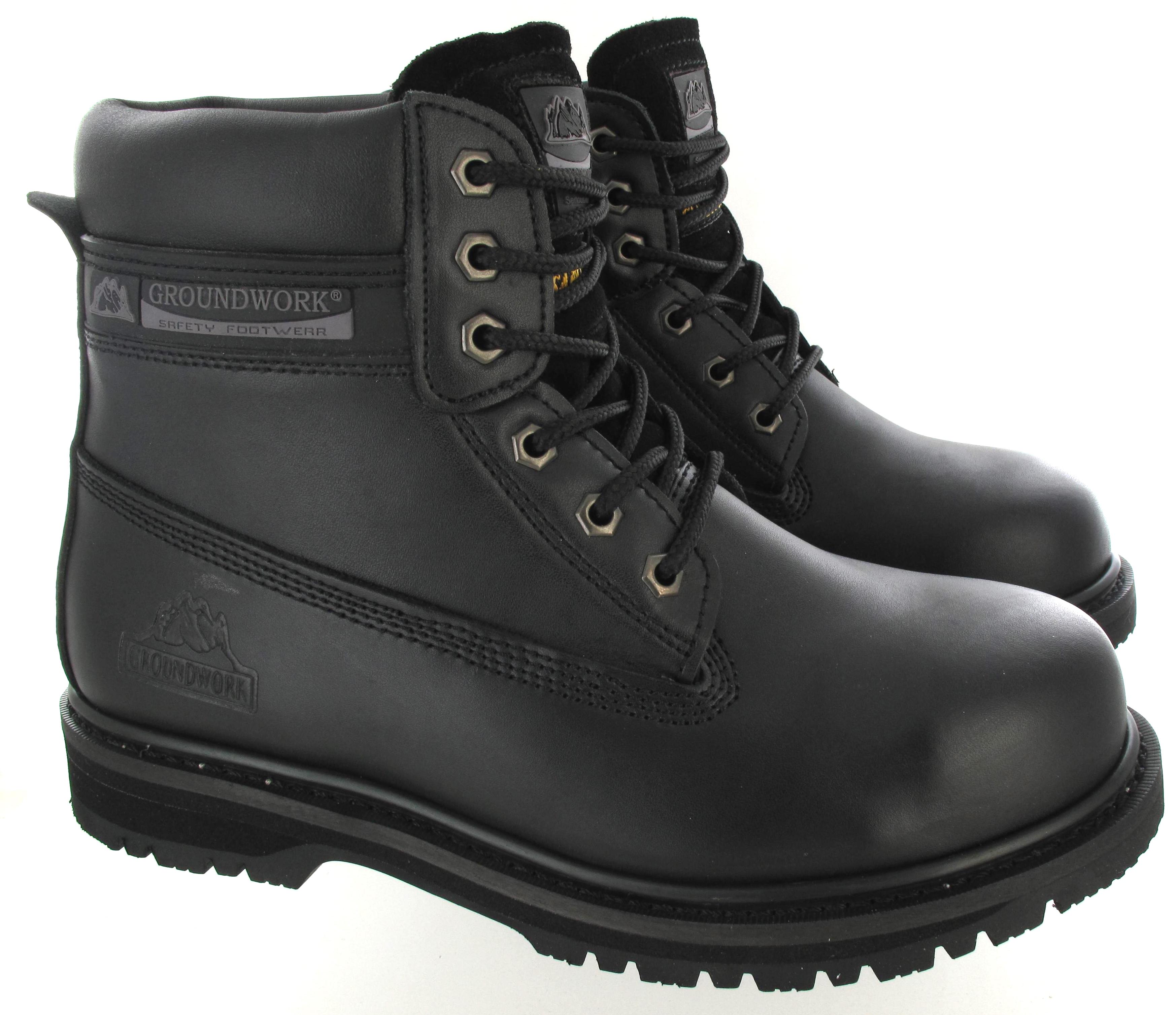 Black Steel Toe Cap Shoes