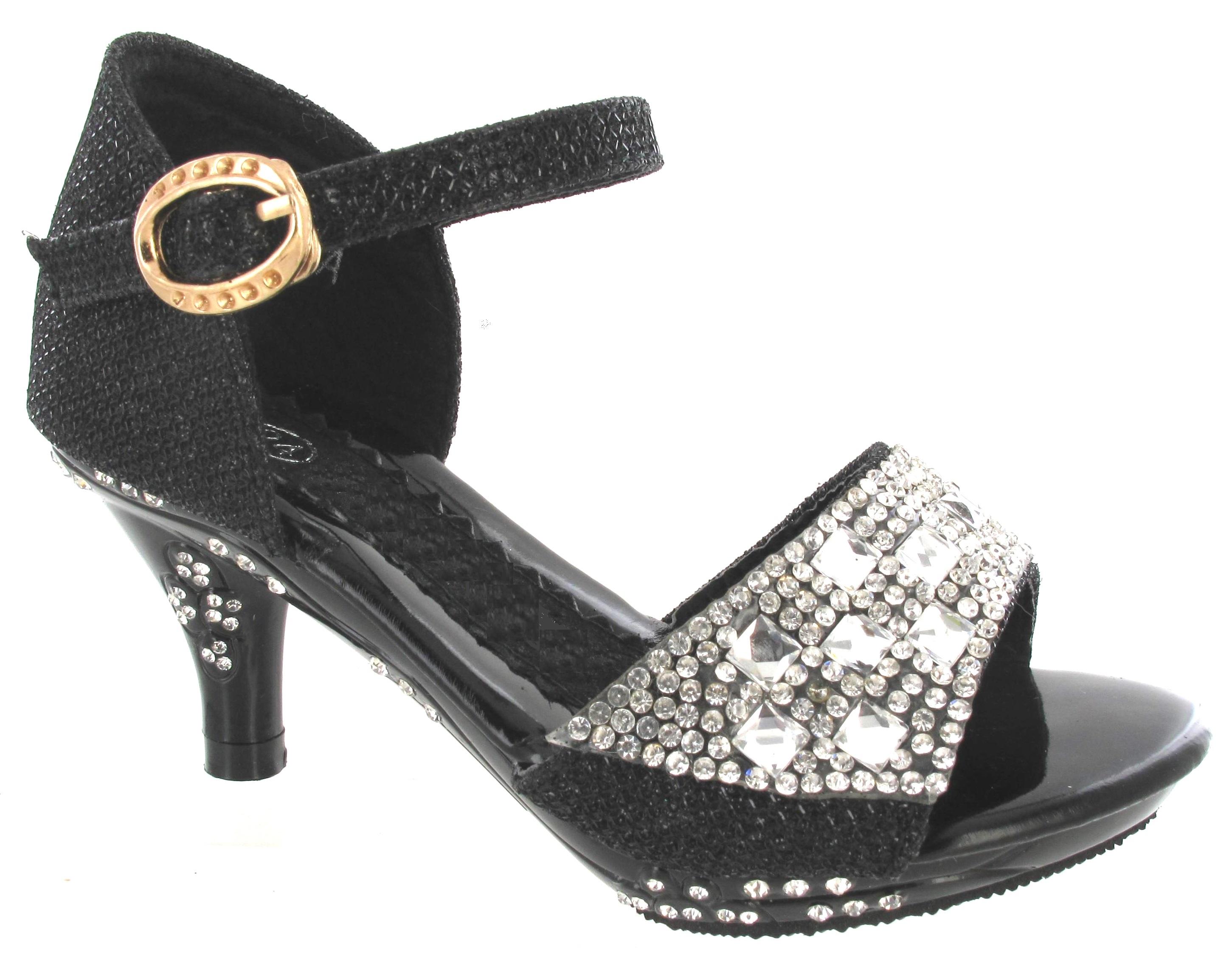 new girls mid high heel wedding party birdesmaid diamante