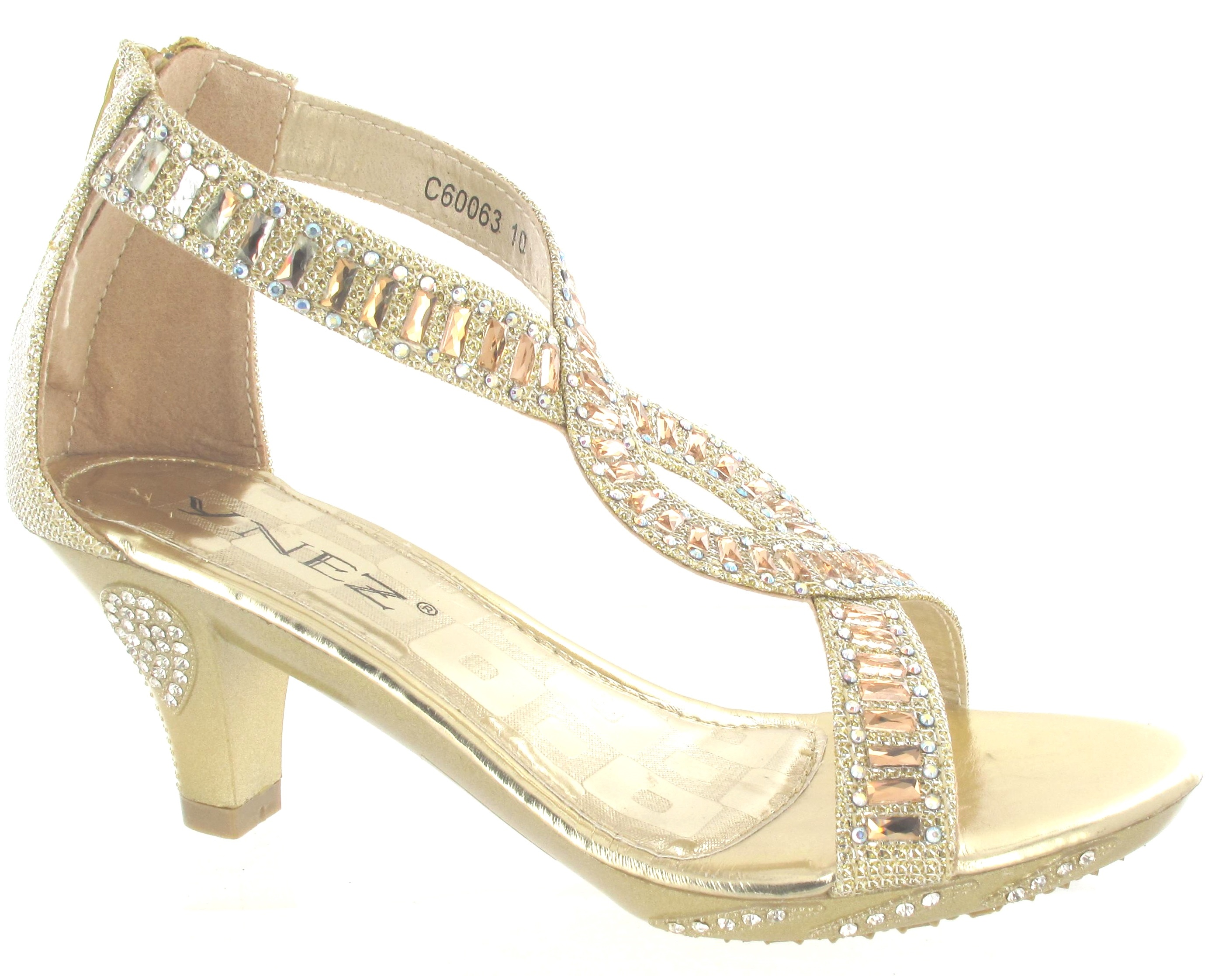 Gold Party Heels - Is Heel