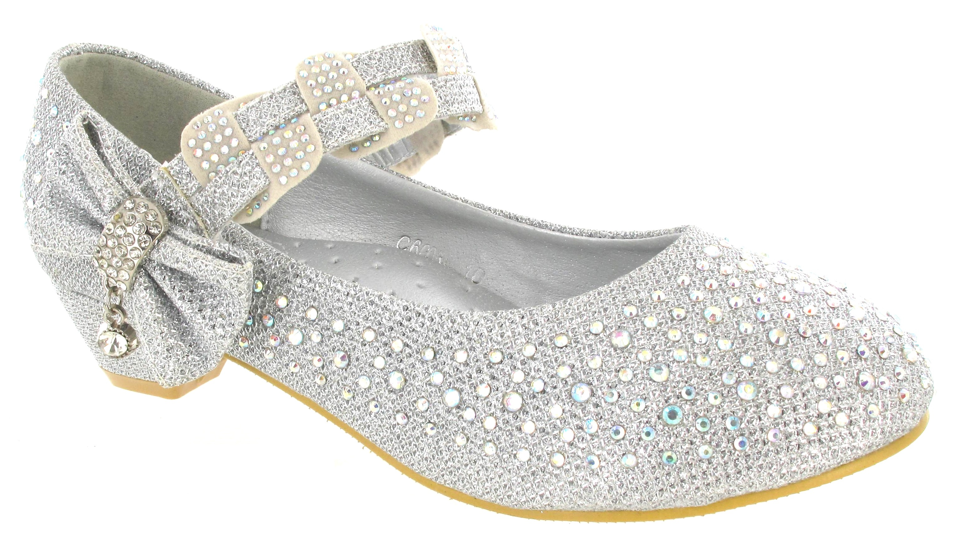 wedge low heel dimante wedding fancy