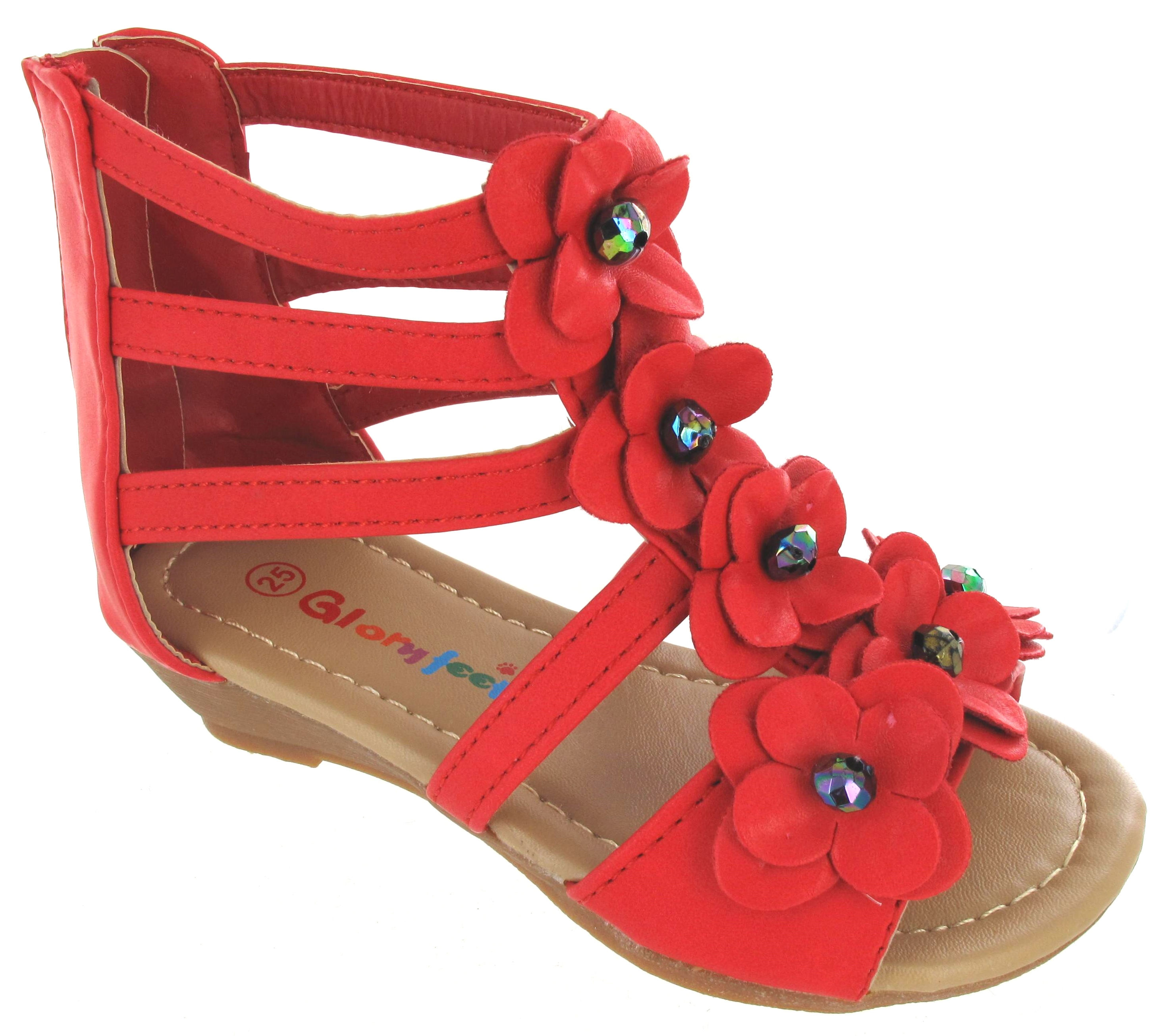 Girls sandals - Girls Sandals Kids Infants Toddlers Summer Walking Flower Beach Shoes Size 5 2 Ebay