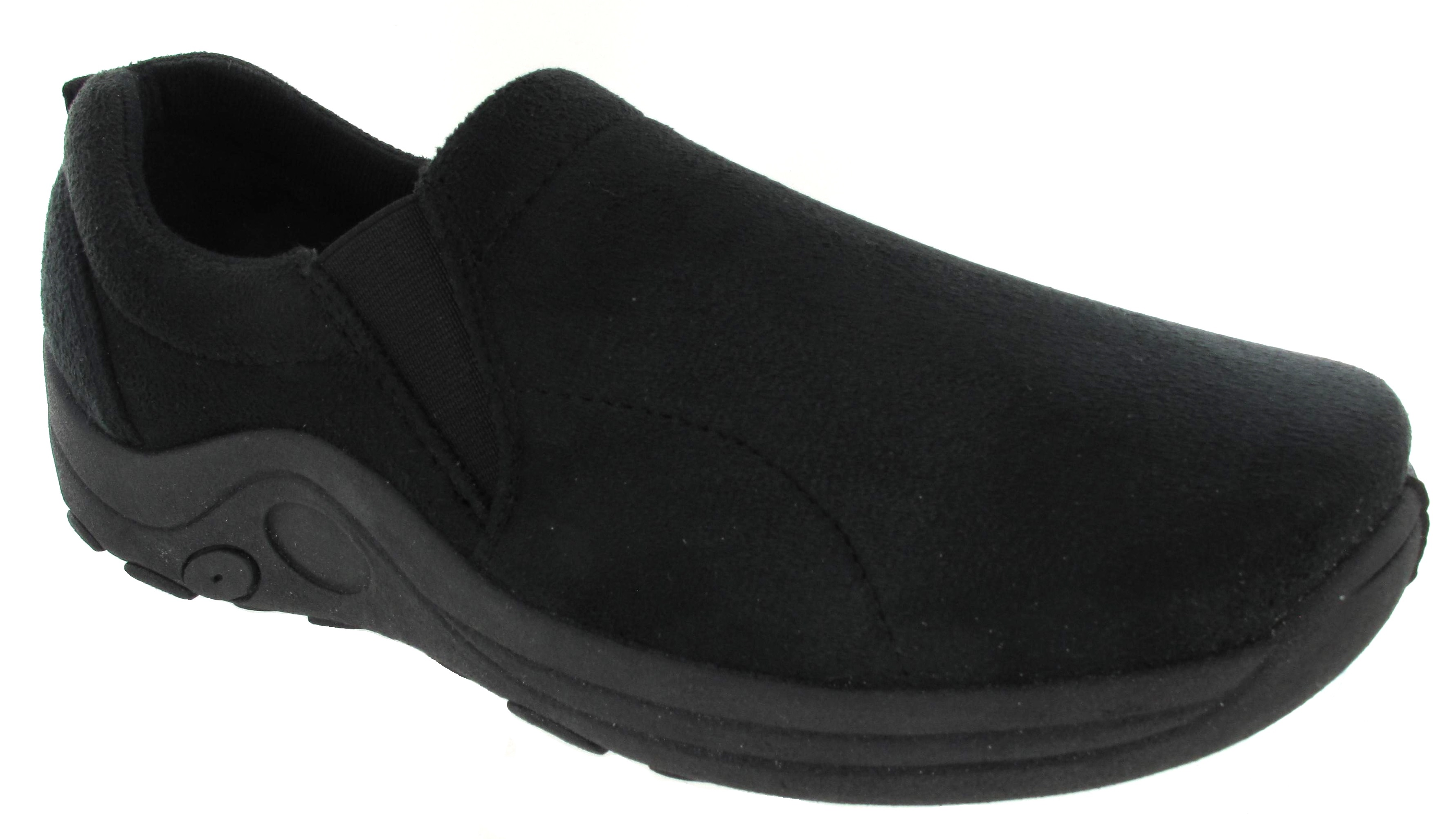 new mens womens slip on faux suede casual walking hiking