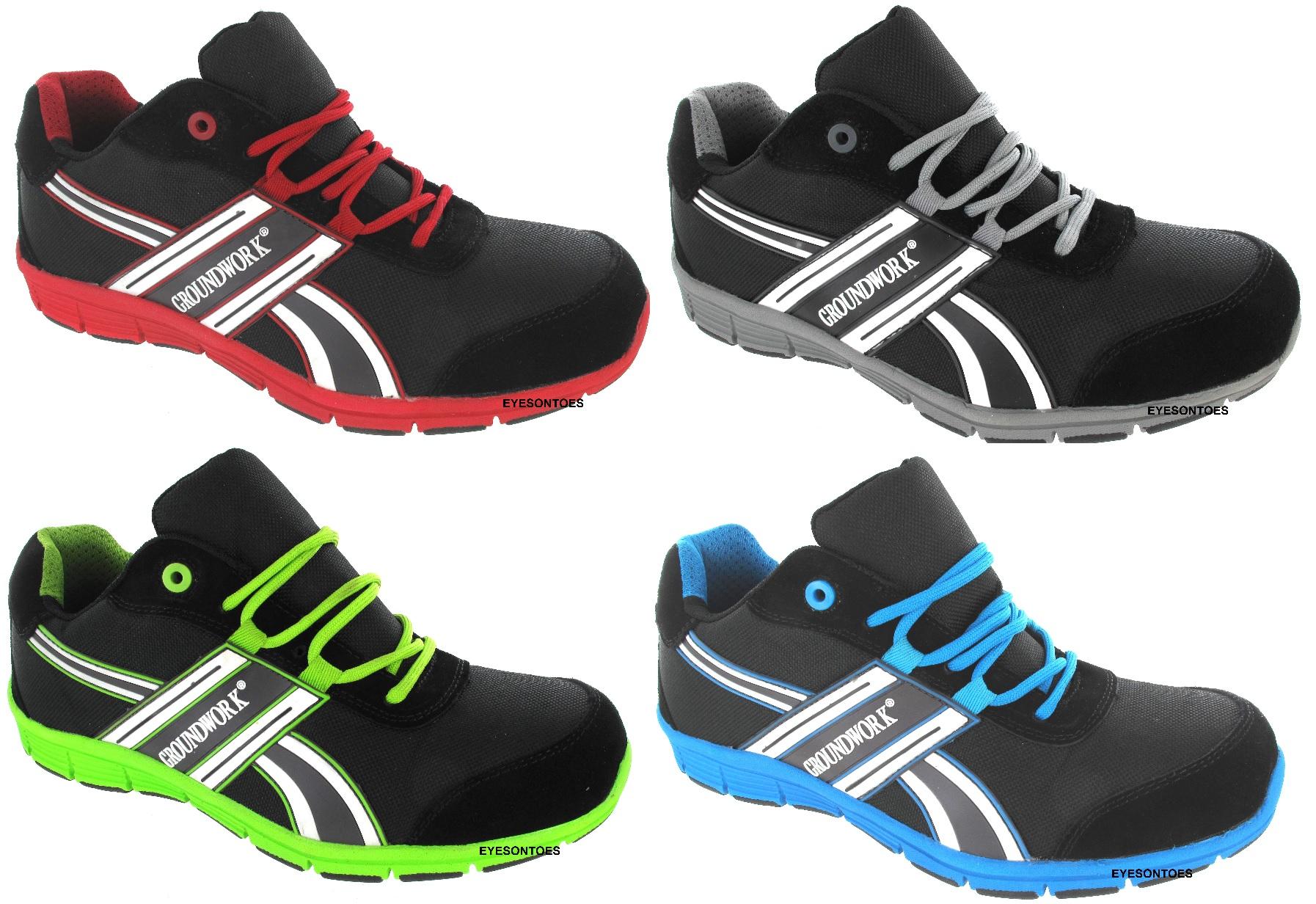 mens sport groundwork lightweight trainers steel toe cap. Black Bedroom Furniture Sets. Home Design Ideas