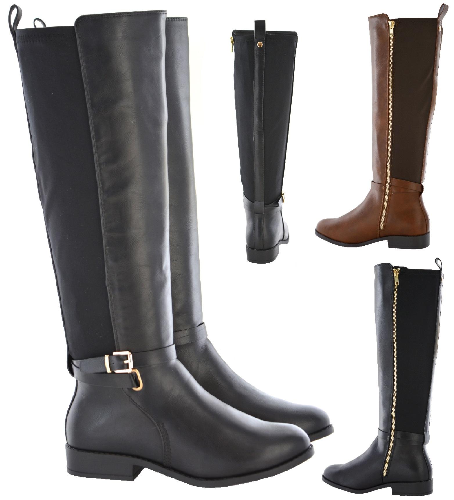 new womens wide calf stretch ex brand boot wide