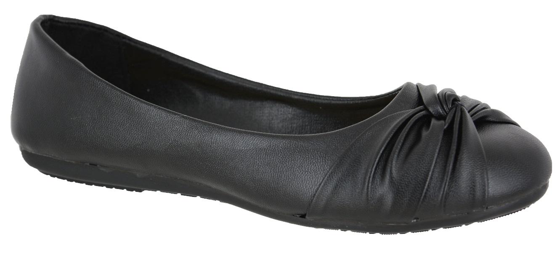 Black Plain Dolly Shoes