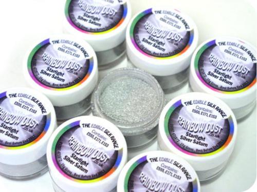 Essbarer Lebensmittelfarbe Staub Pulver Glitzer Torten Kuchen Dekoration Farben