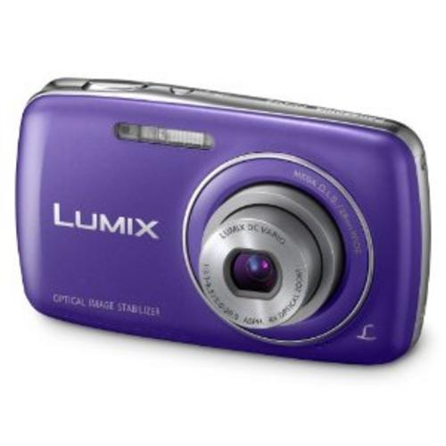 PANASONIC-DMC-S3EB-S3-COMPACT-DIGITAL-CAMERA-BLUE-Top-Condition