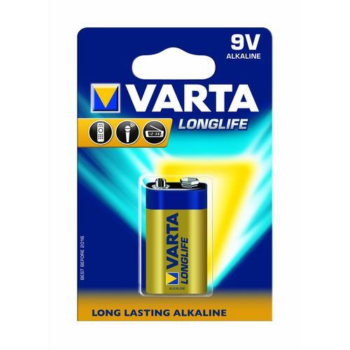 varta longlife 9 volt 9v pp3 alkaline batteries battery 1 pack ebay. Black Bedroom Furniture Sets. Home Design Ideas