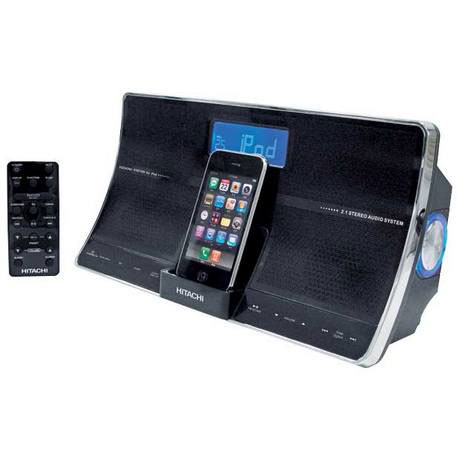 HITACHI HPS249 FM TUNER RADIO TOUCH *IPOD DOCK Faulty* Enlarged Preview