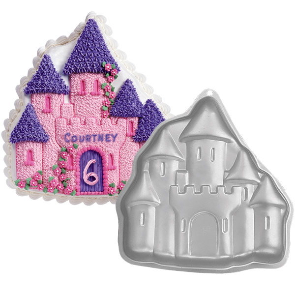 Wilton Enchanted Castle Fairytale Birthday Cake Pan Tin Mold Mould Aluminium Enlarged Preview
