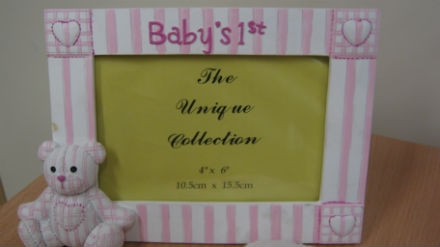 Baby's 1st Photo Frame Pink Baby Enlarged Preview