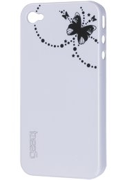 Gear4 Thin Ice Butterfly Protective Case iPhone 4 White Enlarged Preview