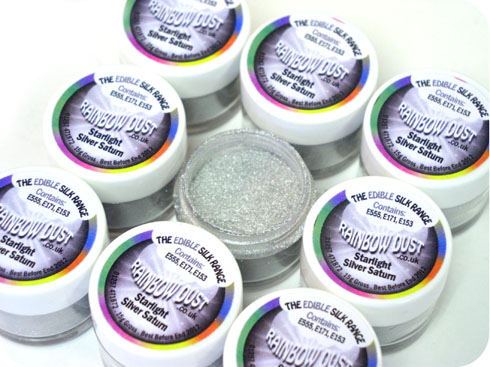Rainbow Dust Edible Cake Glitter Decoration CHOOSE ANY FROM SILK STARLIGHT RANGE