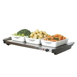 Russell Hobbs Buffet Hot Tray Plate Warmer Model 14969 *Brushed Stainless Steel* Enlarged Preview
