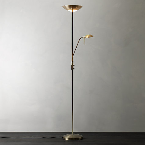 Zella floor lamp light shade with dimmer for reading for Floor reading lamp with dimmer