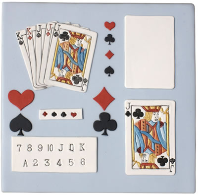 Cake Decoration Playing Cards : Patchwork Cutters Playing CARDS Casino Poker Sugarcraft ...