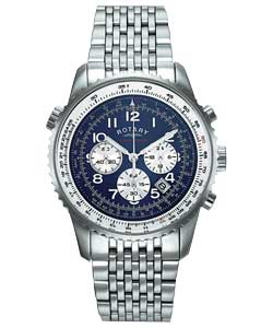 Rotary GB03351/05 Men's Chronograph Stainless Steel Bracelet Watch Enlarged Preview