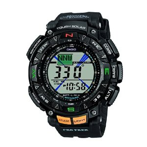 Casio PRG-240-1ER Men's Pro-Trek Solar Triple Sensor Digital Watch Resin Strap Enlarged Preview