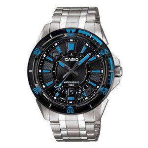 Casio Watch MTD-1066D-1AVEF Men's Black and Blue Bracelet Analogue Watch Enlarged Preview