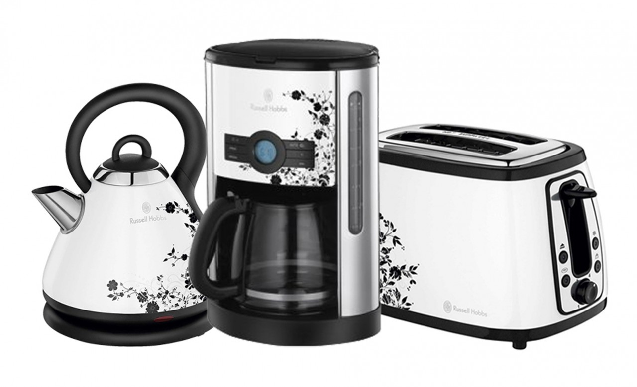 Russell Hobbs Heritage Floral Matching Toaster Kettle & Coffee Maker Machine eBay