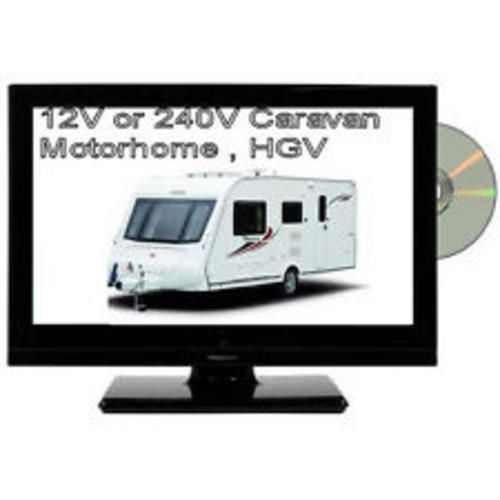 Veltech 19'' LED HD Ready 12v Digital Freeview TV With Built In DVD Player USB Enlarged Preview