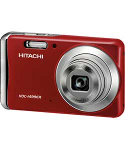 Hitachi HDC1499 14 Mega Pixel Digital Camera Red **TOP CONDITION** Enlarged Preview