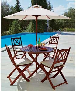 RICHMOND GARDEN PARASOL UMBRELLA SUN COVER AND CHAIR CUSHIONS Enlarged Preview