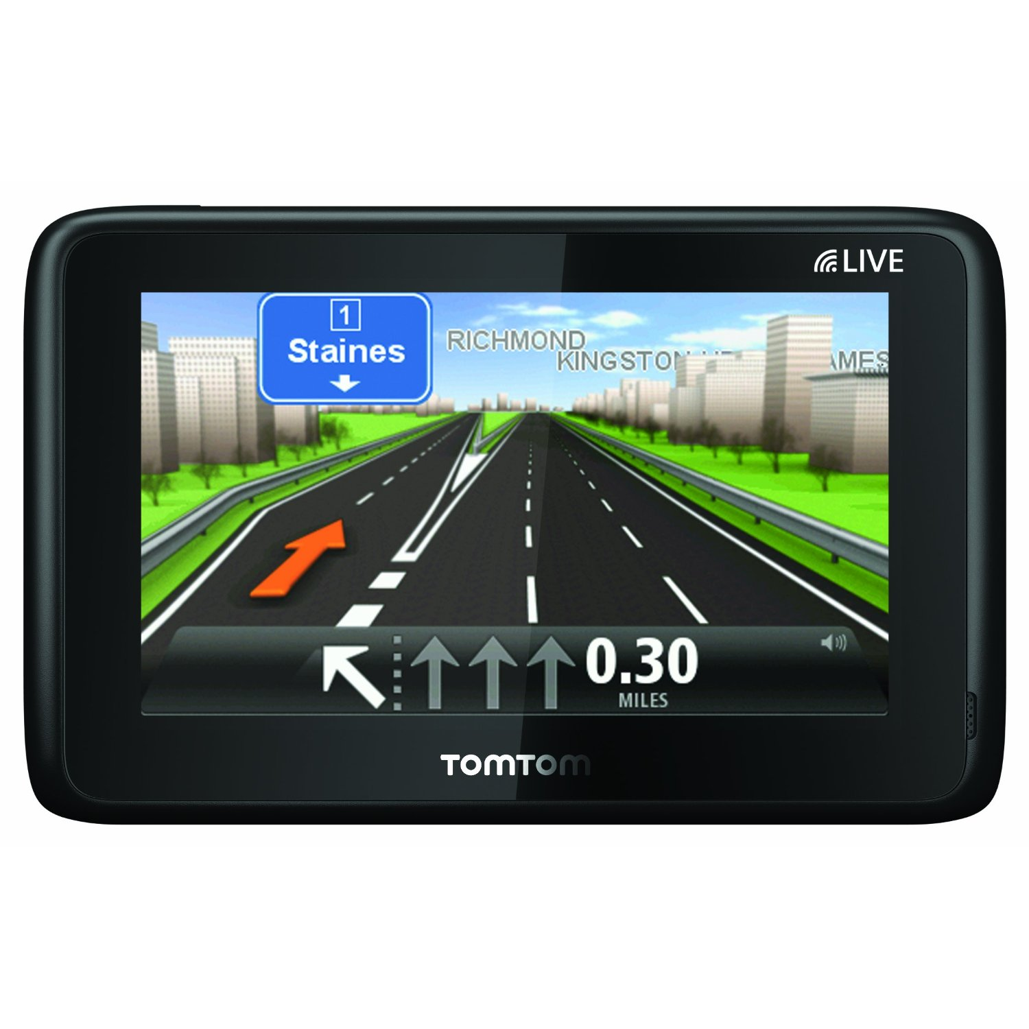 tomtom go live 1000 uk ireland maps gps sat nav system 4 3 touch screen black ebay. Black Bedroom Furniture Sets. Home Design Ideas