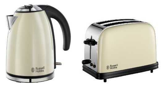 russell hobbs colours matching jug kettle 18943 2 slice. Black Bedroom Furniture Sets. Home Design Ideas