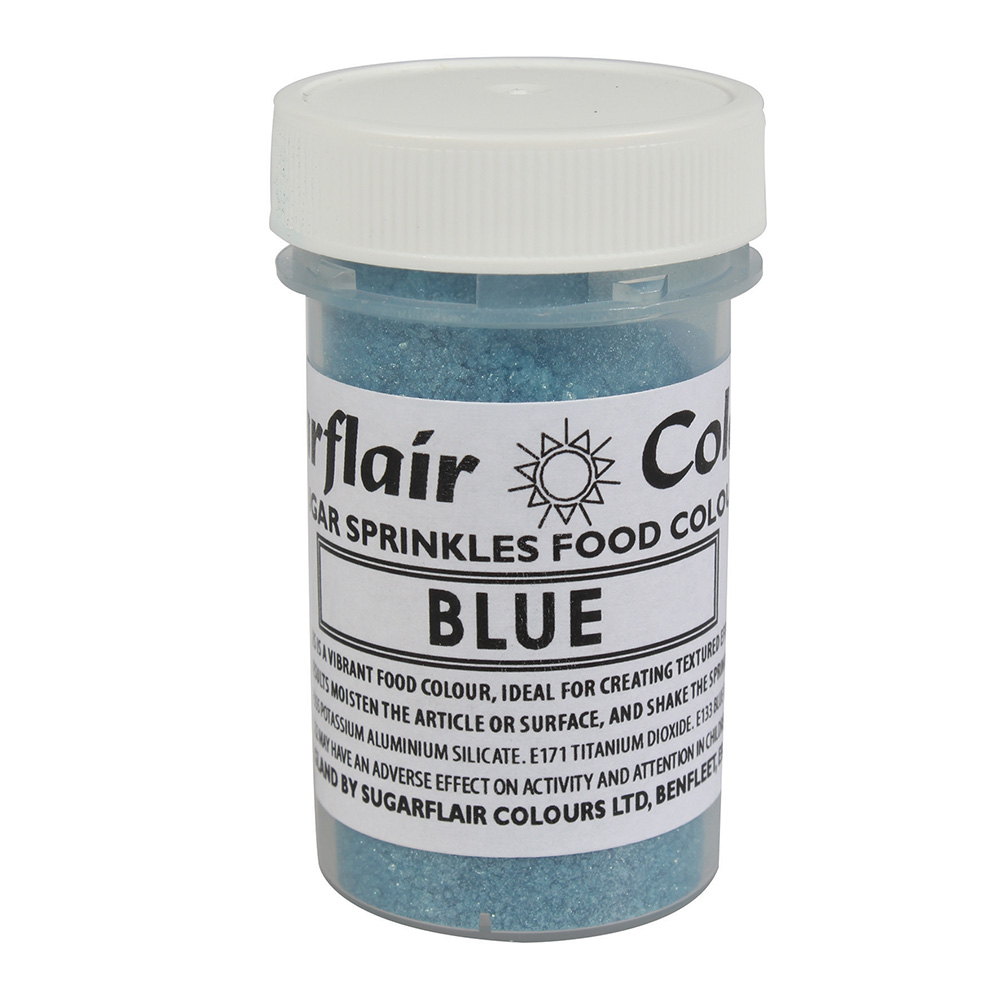 Blue Cake Decorating Sprinkles : Blue Sugarflair Edible Sugar Sprinkles Food Colour ...