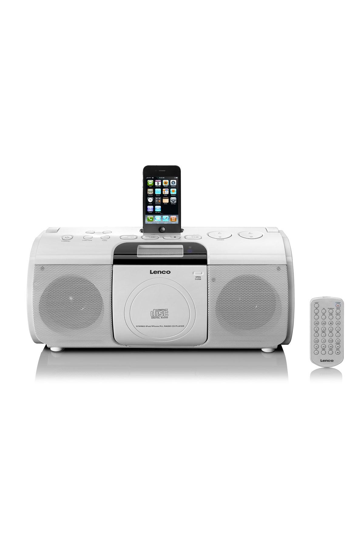 lenco scdi 02 fm radio cd mp3 player with 30 pin iphone. Black Bedroom Furniture Sets. Home Design Ideas