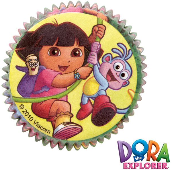 Dora Cupcake Holders http://ebay.com/itm/Wilton-50pk-Dora-The-Explorer-Cupcake-Cake-Baking-Cups-Cases-Holders-Birthday-/140950195700