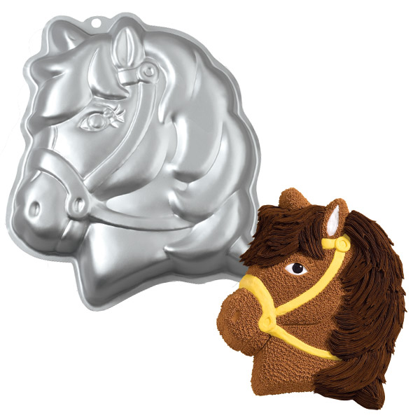 Wilton Party Pony Horse Cake Baking Pan Tin Kids Birthday Party Aluminium Enlarged Preview