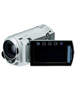 JVC GZ-MS210 Digital Flash Camcorder Silver 39x Optical Zoom 800x Digital Zoom Enlarged Preview