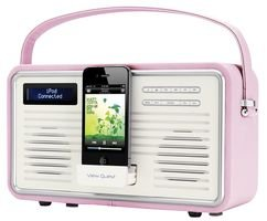 view quest retro tragbarer dab fm radio mit ipod iphone. Black Bedroom Furniture Sets. Home Design Ideas